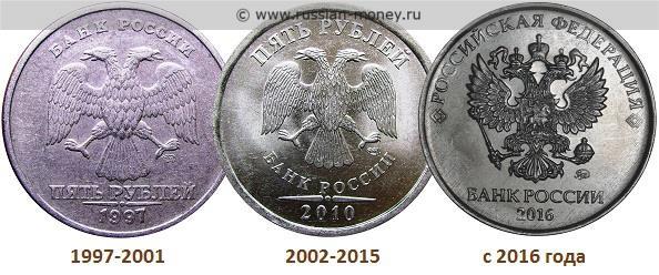 монеты 1997 2016 год