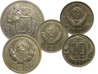 Copper-Nickel coins (1931-1957)
